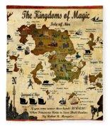 Kingdoms Of Magic Battle Map Fleece Blanket
