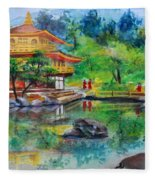 Kinkakuji  Fleece Blanket