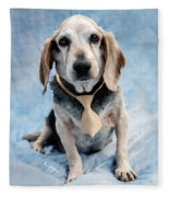 Kippy Beagle Senior And Best Dog Ever Fleece Blanket
