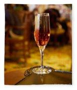Kir Royale In A Champagne Glass Fleece Blanket