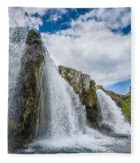 Kirkjufellsfoss Waterfalls, Church Fleece Blanket