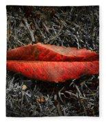 Kiss Of Leaf Fleece Blanket