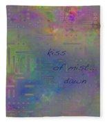 Kiss Of Mist Haiga Fleece Blanket