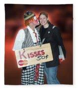Kisses Fleece Blanket