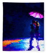 Kissing In The Rain Fleece Blanket