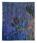 Kissing Rain Fleece Blanket