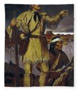Kit Carson (1809-1868) Fleece Blanket