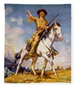 Kit Carson American Frontiersman Fleece Blanket