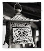 Kita-in Temple Iron Lantern In Kawagoe Fleece Blanket