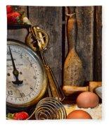 Kitchen - Baking A Strawberry Pie Fleece Blanket
