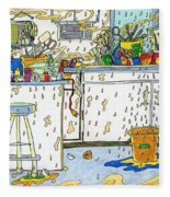 Kitchen Catastrophe Fleece Blanket