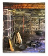 Kitchen - Colonial Pots And Pans Fleece Blanket