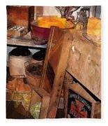 Kitchen - Food - Meat - Cheese - Eggs Fleece Blanket