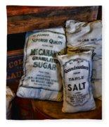 Kitchen - Food - Sugar And Salt Fleece Blanket