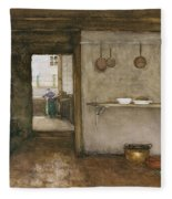 Kitchen Interior, C.1899 Fleece Blanket