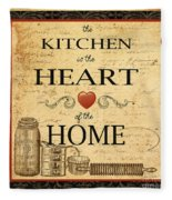 Kitchen Is The Heart Fleece Blanket
