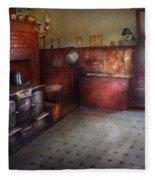 Kitchen - Storybook Cottage Kitchen Fleece Blanket