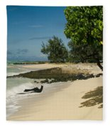 Kite Beach Kanaha Beach Maui Hawaii Fleece Blanket