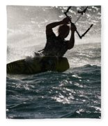 Kite Surfer 02 Fleece Blanket