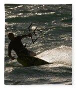 Kite Surfer 03 Fleece Blanket