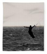 Kite Surfing Pose Fleece Blanket