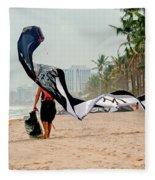 Kiteboard Gear Fleece Blanket