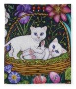 Kittens In A Basket Fleece Blanket