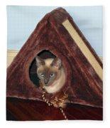 Kitty A-frame Fleece Blanket