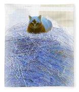Kitty Blue IIi Fleece Blanket