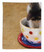 Kitty Cat Time Out Fleece Blanket