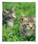 Kitty In Grass Fleece Blanket