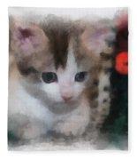 Kitty Photo Art 01 Fleece Blanket