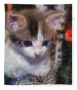 Kitty Photo Art 02 Fleece Blanket