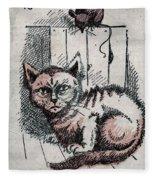 Kitty Sly Fleece Blanket