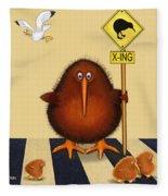 Kiwi Birds Crossing Fleece Blanket