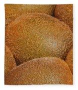 Kiwi Fruit Fleece Blanket