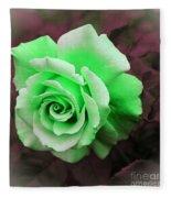 Kiwi Lime Rose Fleece Blanket