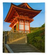 Kiyomizudera Temple Fleece Blanket