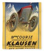 Klausen Automobile Fleece Blanket