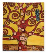 Klimt Study Tree Of Life Fleece Blanket