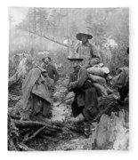Klondike Gold Rush Miners  1897 Fleece Blanket