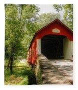 Knecht's Covered Bridge Fleece Blanket