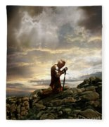 Kneeling Knight Fleece Blanket