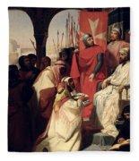 Knights Of The Order Of St John Of Jerusalem Restoring Religion In Armenia Fleece Blanket