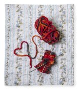 Knitted With Love Fleece Blanket