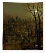 Knostrop Old Hall, Leeds, 1883 Fleece Blanket
