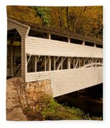 Knox Bridge In Autumn Fleece Blanket
