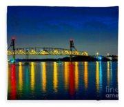 Kodachrome Bridge Fleece Blanket
