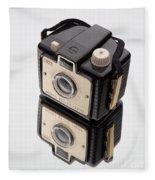 Kodak Brownie Bullet Camera Mirror Image Fleece Blanket