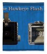 Kodak Brownie Hawkeye Camera Fleece Blanket
